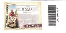 1492 CODICE A BARRE LATO DI SOPRA Quotidiano Roma 0,60  ANNO 2012