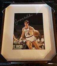 Jon McGlocklin autographed photo framed in glass #14 Bucks 8x10 1971 NBA champs