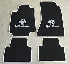 Autoteppich Fußmatten für Alfa Romeo Giulia 952 schwarz weiss Velours 4tlg Neu