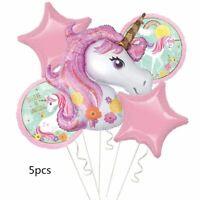 Unicorn Theme Balloons 18 Inch Star Round Balloon Birthday Party Decor Kids