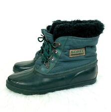 Sorel Winter Boots Kaufman size 9 Womens Green with Liner Removable Lace Up