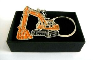 Excavator Digger Keyring Chrome Metal Gift Boxed