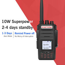 ZASTONE A19 Handheld Ham Radio 10W 136-174/400-480MHz Long Rang 999CH For Hunt