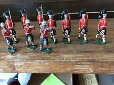 Britians Made In England Lead Toy Soldiers Marching With Kilts JIS