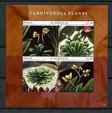 Palau 2012 MNH Carnivorous Plants 4v M/S Butterwort Sundew Bladderwort Stamps