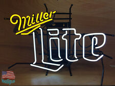 "Miller Lite Beer Bar Pub Handcrafted Neon Sign 20""x16"" From Usa"