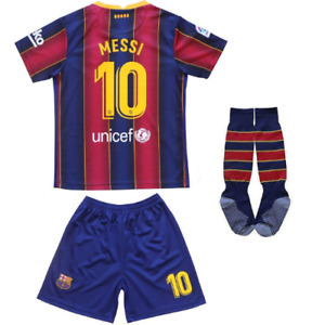 NEW 20-21 Barca Lionel Messi 10 Home Jersey Kids Soccer Youth