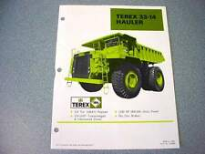 Terex 33-11B & Terex 33-14 Hauler Truck Literature (2)