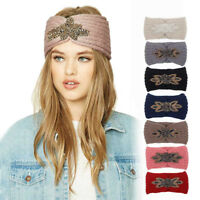Women Knitted Headbands Winter Warm Head Wrap Wide Hair Band Accessories Chic