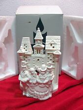"Partylite Village Carolers. Po204 ""Retired"" Candle Holder White Christmas Church"