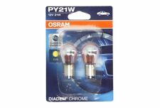 OSRAM Diadem Chrome PY21W Indicator Signal Bulb (Twin Pack) 7507 DC-02B/EA