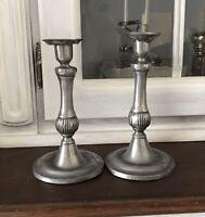 Antik alt Zinnleuchter 2 Leuchter Kerzenständer Kerzenhalter