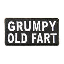 Embroidered Grumpy Old Fart Sew or Iron on Patch
