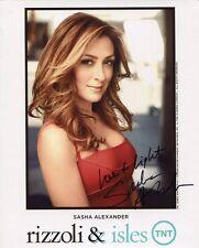 SASHA ALEXANDER HAND SIGNED 8x10 COLOR PHOTO             GORGEOUS+SEXY ACTRESS