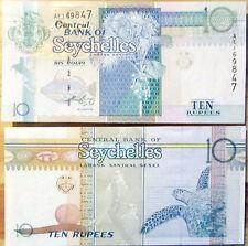 """BILLETE """"  SEYCHELLES     """"  10 RUPIAS    AÑO  1998   UNC    PLANCHA"""