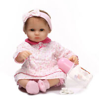 40cm Soft Silicone Vinyl Reborn Baby Doll Newborn Toddler Adorable Kids Lifelike