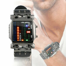 Luxury Men's Stainless Steel Watch LED Sports Date Digital Bracelet Wristwatch
