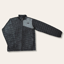 THE NORTH FACE PADDED JACKET THERMOBALL BLACK/GREY BOYS KIDS XL 9/10 EXCELLENT
