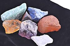 Rough 7 Stones Chakra Set Raw Natural Gemstones Crystal Healing Zentron