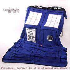 Doctor Who Dr TARDIS Police Box Throw Blanket Coral Velvet Carpet Xmas Gift Nice