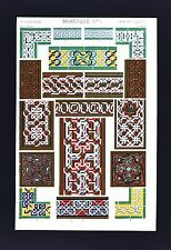 1868 Owen Jones Ornament Print Moresque No 1 Moorrish Interlace - Alhambra Spain