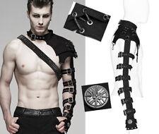 Harnais manche armure bracelet gothique punk warrior militaire PunkRave homme