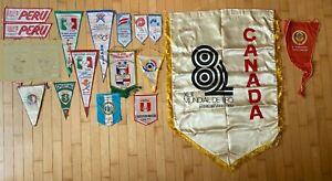 Vintage Shooting related Pennants Olympic Mexico Cuda CCCP Peru UIT ISSF Tiro