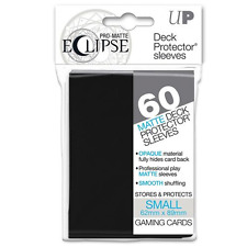 60 ULTRA PRO DECK PROTECTOR SMALL PRO-MATTE ECLIPSE Black SLEEVES - IN STOCK!
