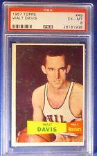 WALT DAVIS 1957-58 Topps #49 Card Philadelphia Warriors PSA 6 EX-MT #26181936