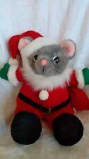 New listing Vintage Plush Santa Mouse Jc Penney Stuffed Santa Claus Animal Toy