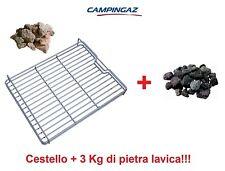 CESTELLO PER PIETRA ROCCIA LAVICA MODELLO 3 & 4 SERIES CAMPINGAZ + 3 KG ROCCIA