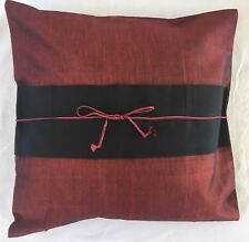 Pair of 'MAGICAL RED' Silk Cushion Covers