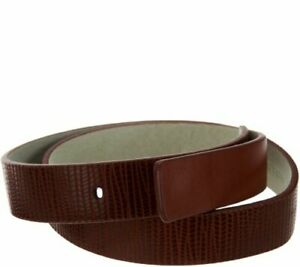 H by HALSTON Lizard Embossed Leather Belt A277350