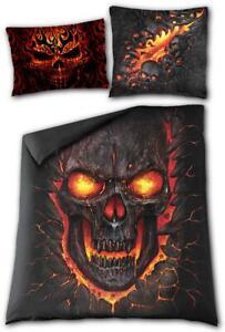 SKULL BLAST - Double/Queen Blanket Cover + 2 Pillow Cases/Xmas/Metal/Fire/Rock