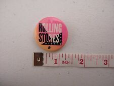 Vtg Rolling Stones Dirty Work Button Pin Pink 1986 #1