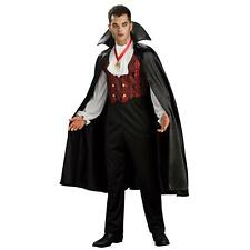 Mens Transylvanian Vampire Costume Dracula Halloween Fancy Dress Outfit