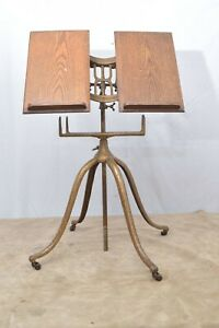 Antique Cast Iron Columbia Dictionary Holder Stand By Josiah Anstice & Co