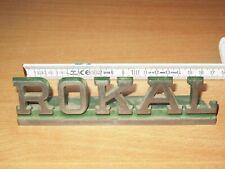 Rokal Tt Metallo Werbeschild Emblema 16 cm lungo di Acciaio - Top Raro