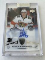 2018-19 Upper Deck UD Clear Cut Henrik Borgstrom Panthers RC Rookie On Card Auto