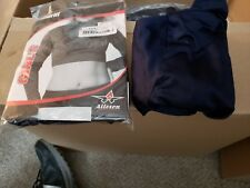 Alleson cheerleading Blue midriff size M and L x2 Women's long sleeve