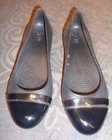 Crocs Cap Toe Black  Trim Flats Black Pumps Shoes Size Women's 7 W