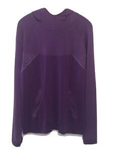 NEW Title Nine Large Concord Purple Hooded Pullover Sweater Jacket