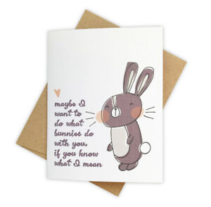What Bunnies Do Sexy Romantic Suggestive Naughty Love Card for Spouse or Partner