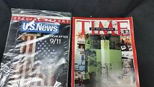 2 magazines One year after 9/11 Time US News