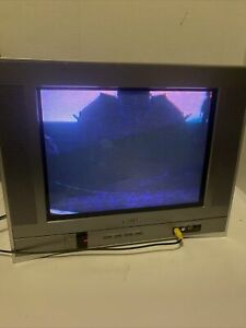 """2004 Toshiba 14AF44 14"""" CRT Retro Gaming Color TV Flat screen component/S-video"""