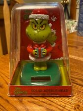 Solar Powered Dancing Bobble Head Toy New - LARGE The Grinch
