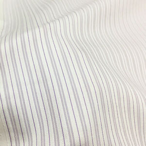 White and purple striped twill silk cotton blended fabric fit for shirt,SCT753