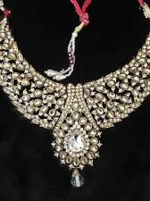 exquisite jewelry-Golden necklace,headpiece(Tikka) and ear rings