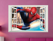 3D SPIDERMAN Window Wall Stickers Boys Kids Nursery Mural Art Vinyl Home Decor
