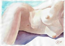original drawing A3 196-X art by samovar watercolor female nude Signed 2020